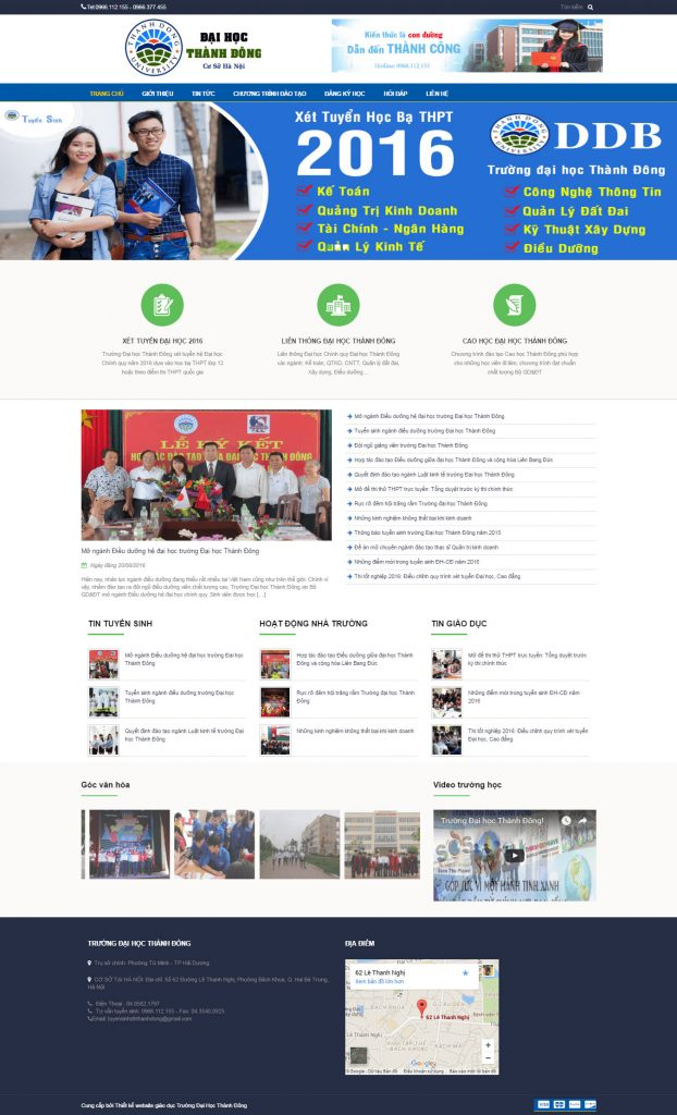 website-dai-hoc-thanh-dong