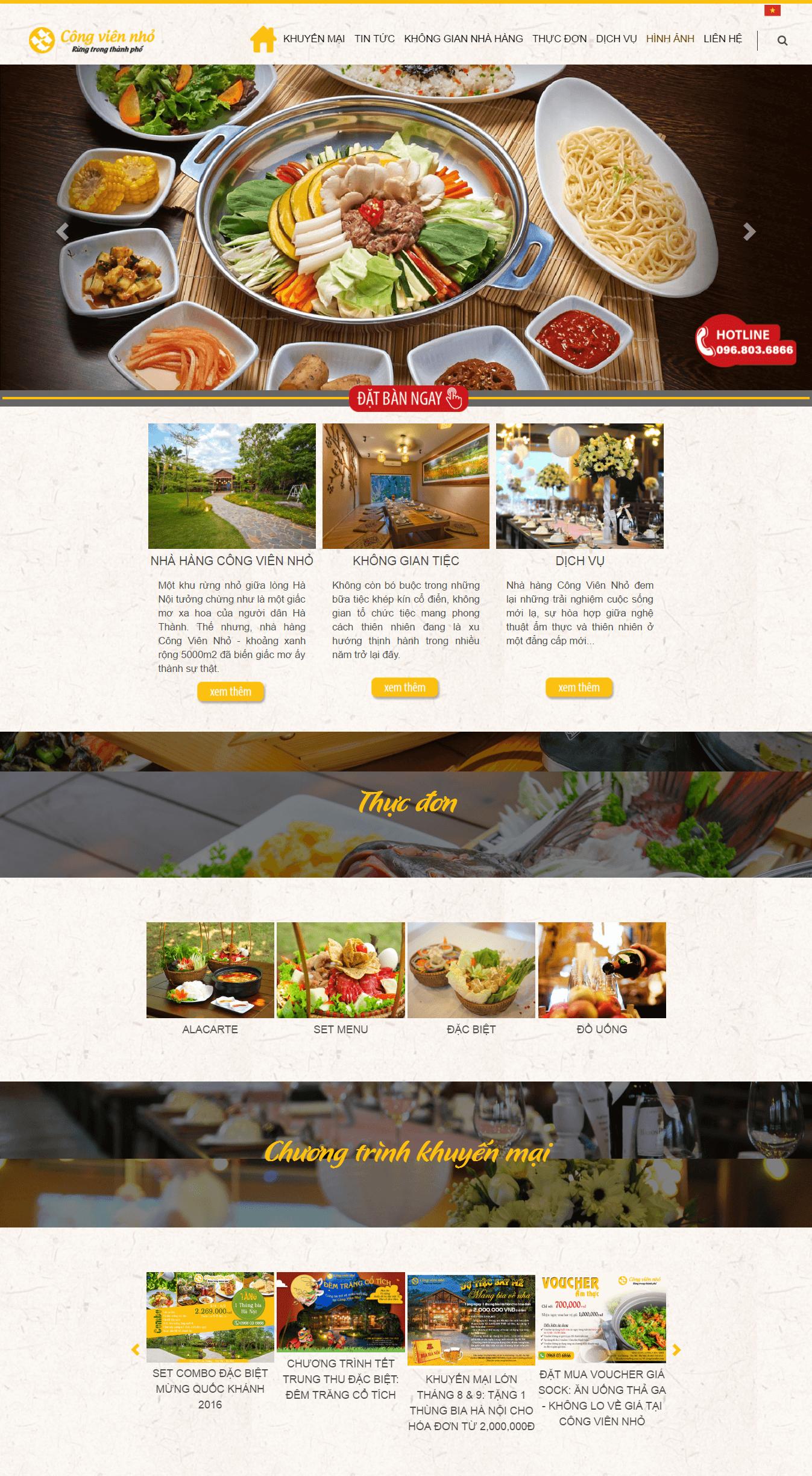 Website nhà hàng sang trọng