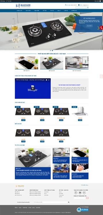 Website bán hàng gas