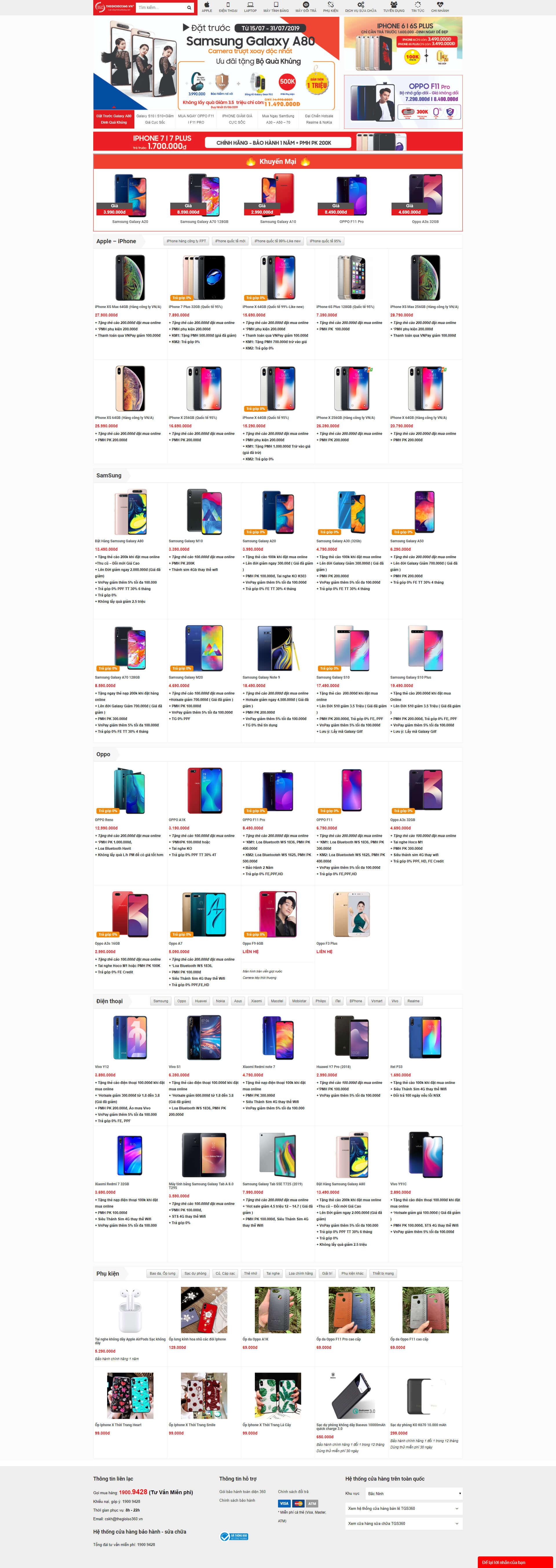 Website bán hàng điện thoại