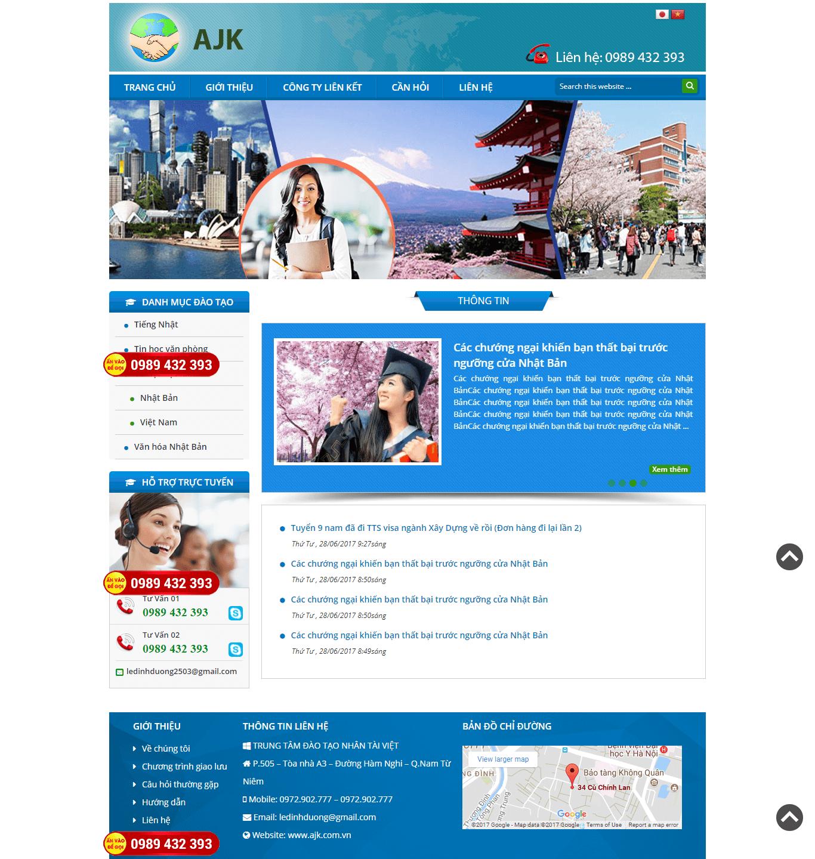 Website Đào Tạo Nhân Tài Việt
