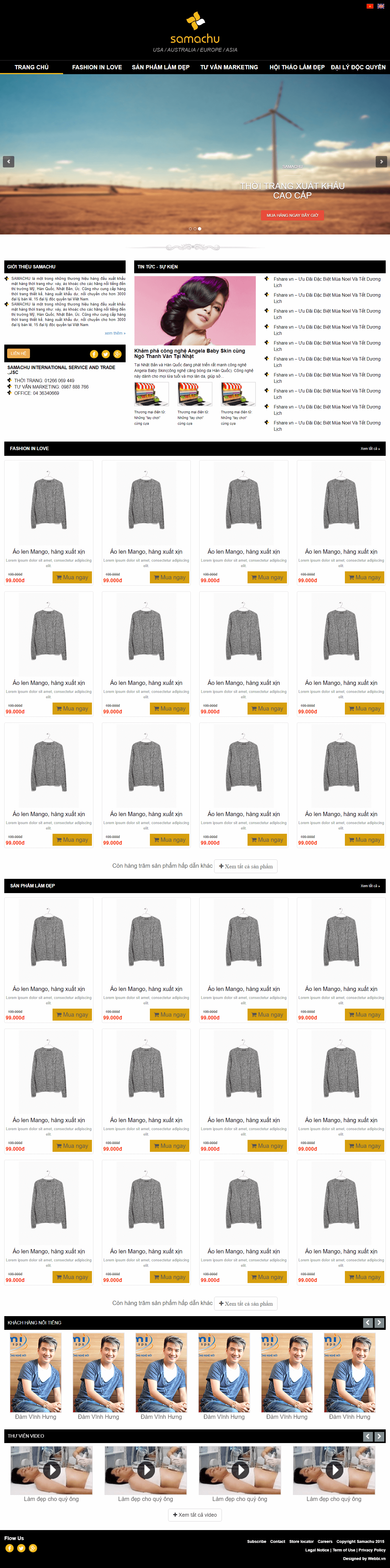 Website Fashion Làm Đẹp