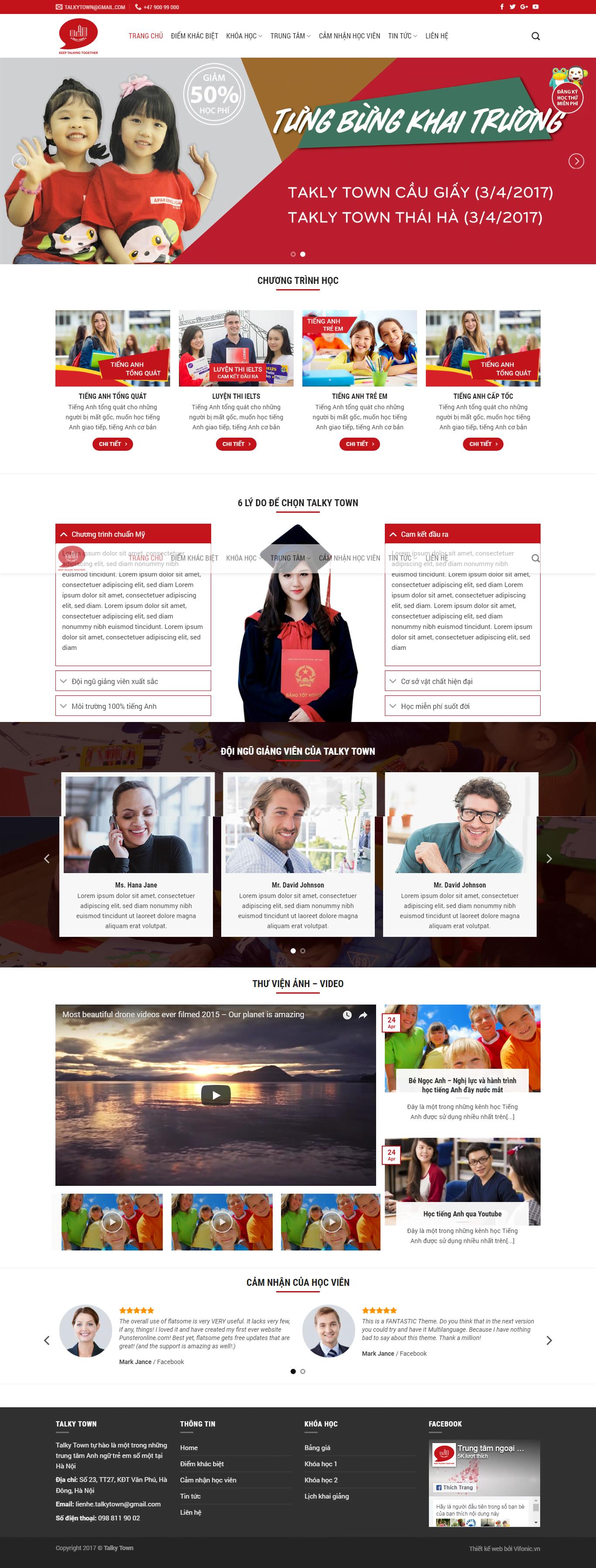 Website trung tâm tiếng anh