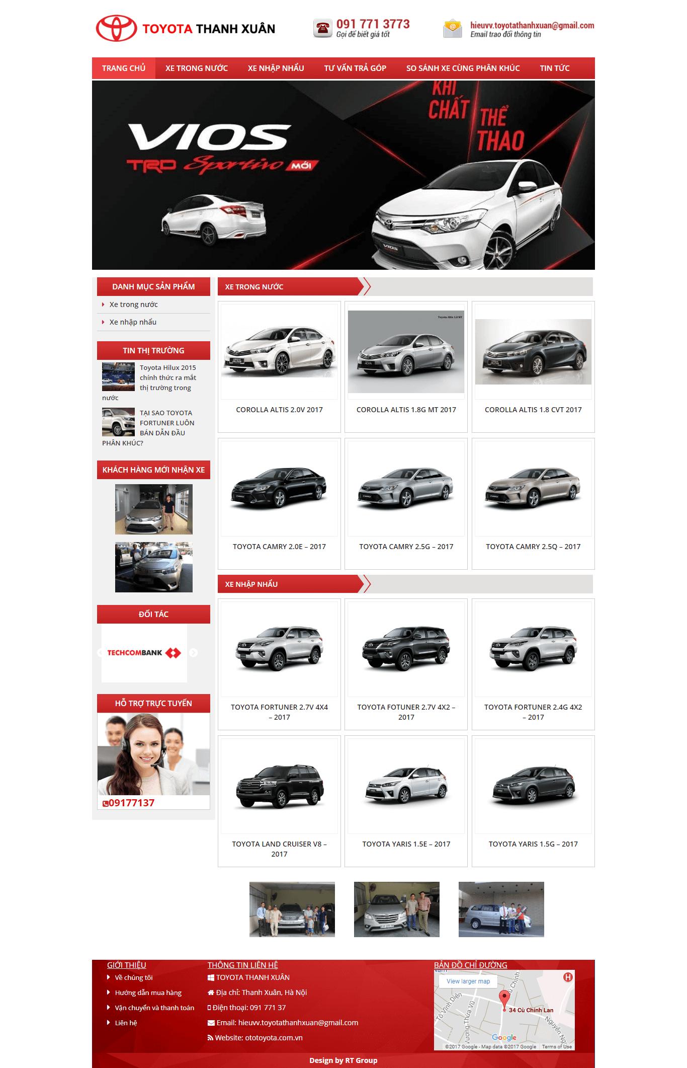 Mẫu website Xe Ô Tô