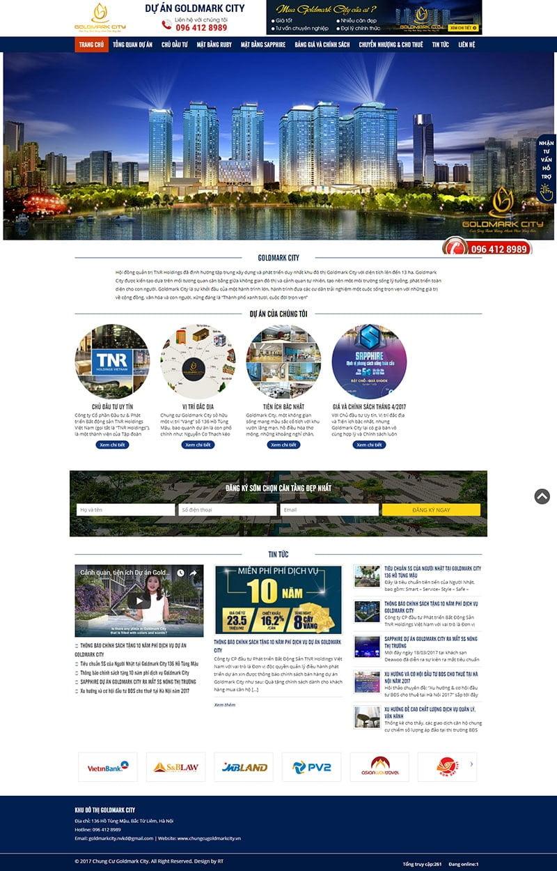 Mẫu website bất động sản đơn giản