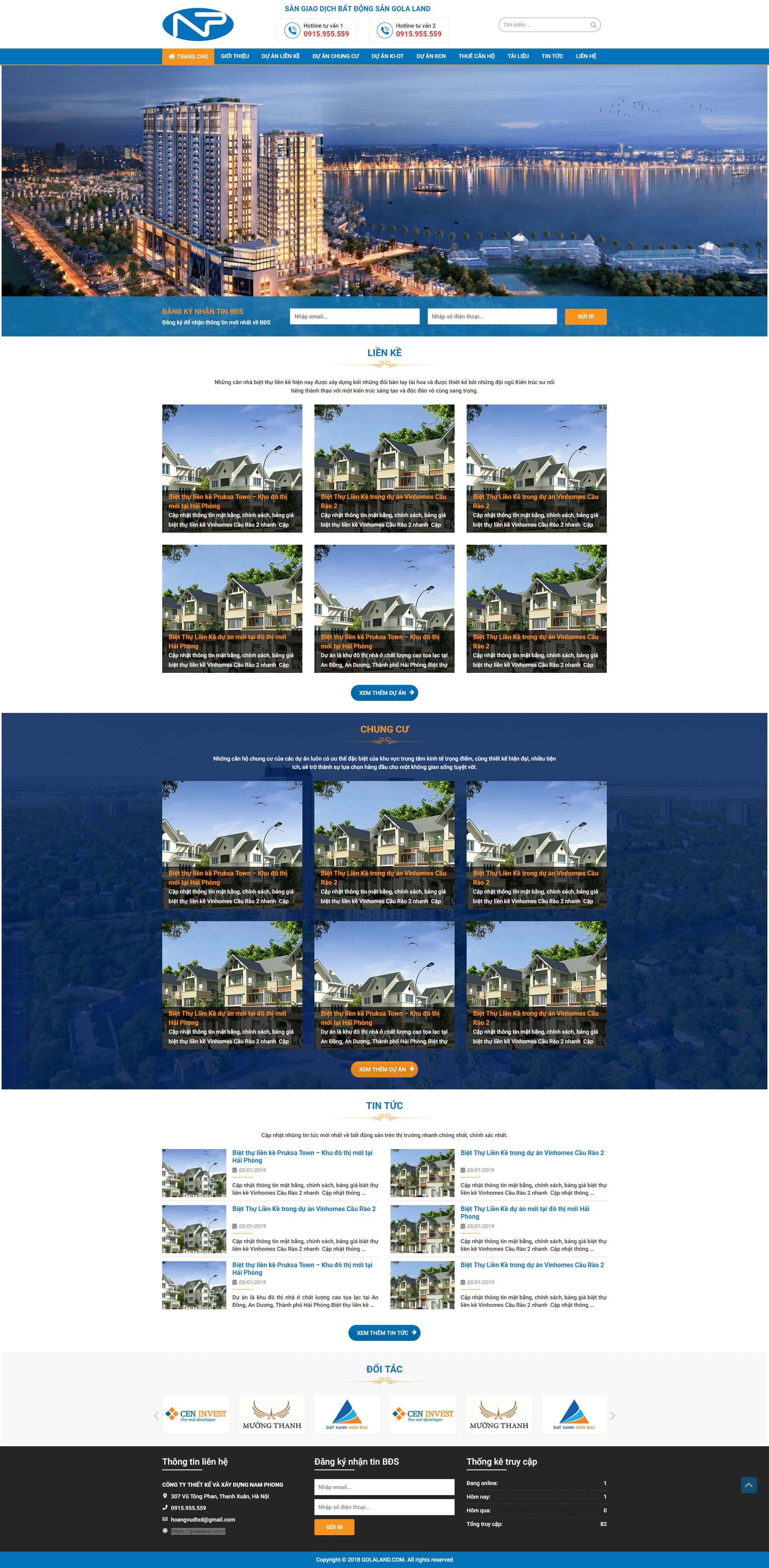Mẫu website dự án bất động sản nhiều dự án 14