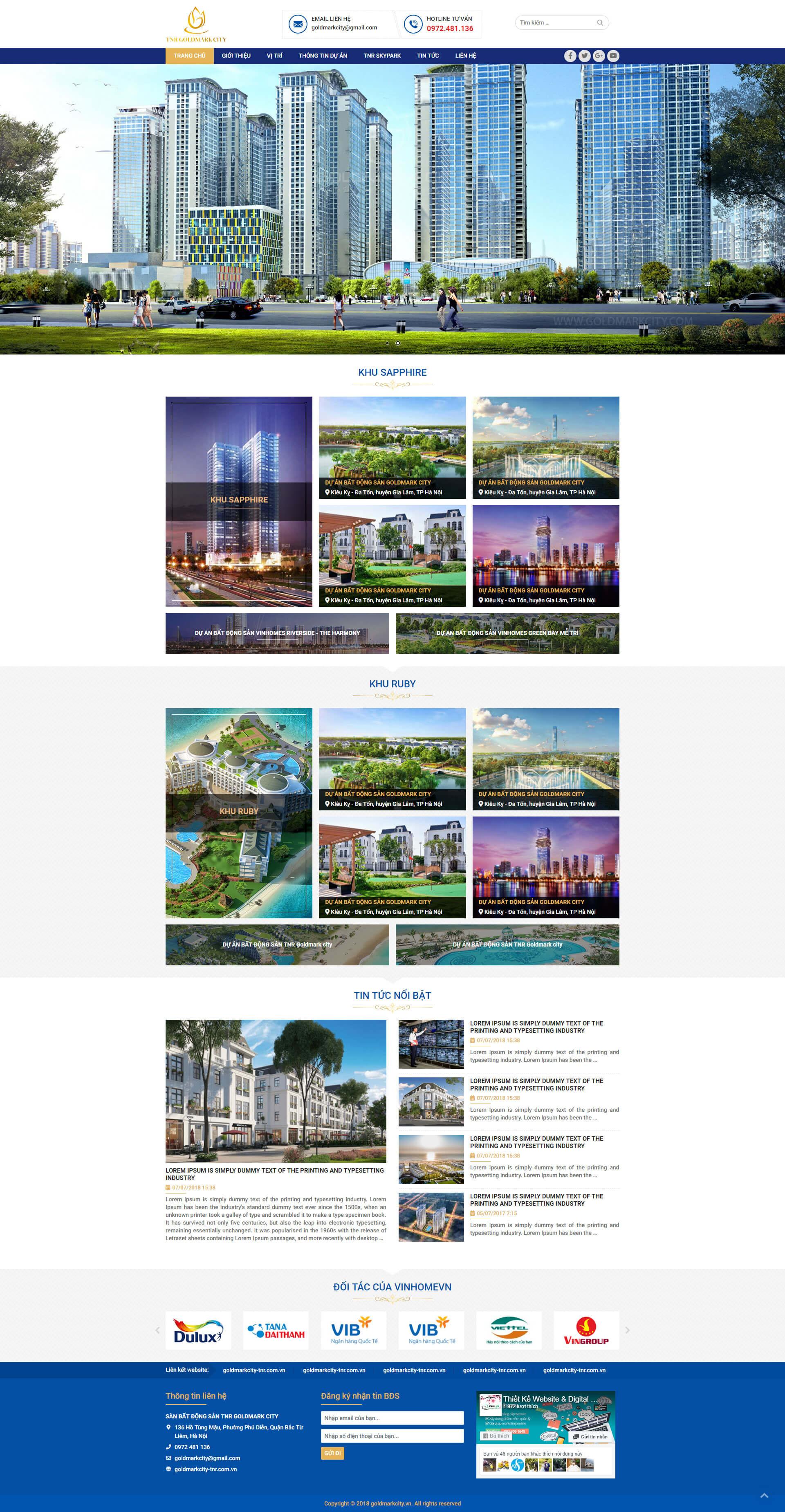 Mẫu website dự án bất động sản nhiều dự án 15