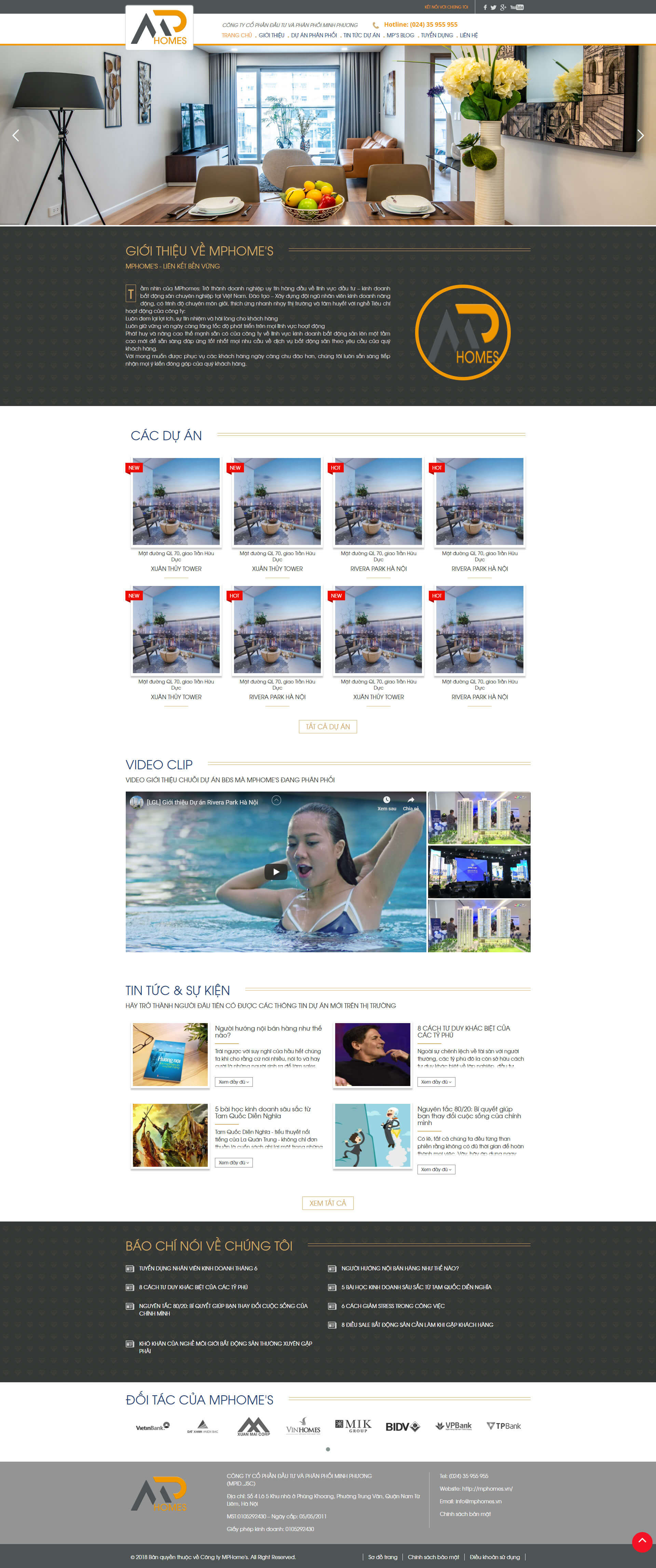 Mẫu website dự án bất động sản nhiều dự án 17