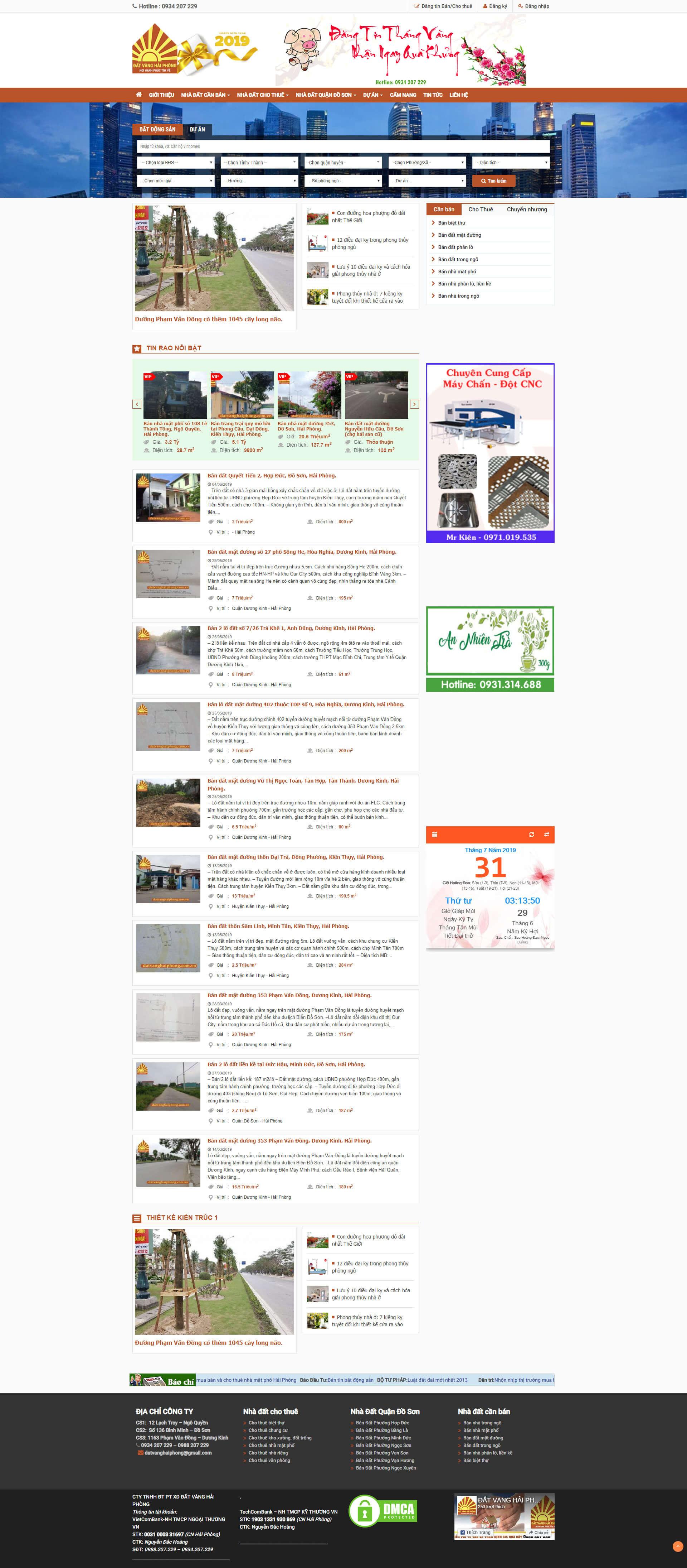 Mẫu website dự án bất động sản dạng rao vặt 10