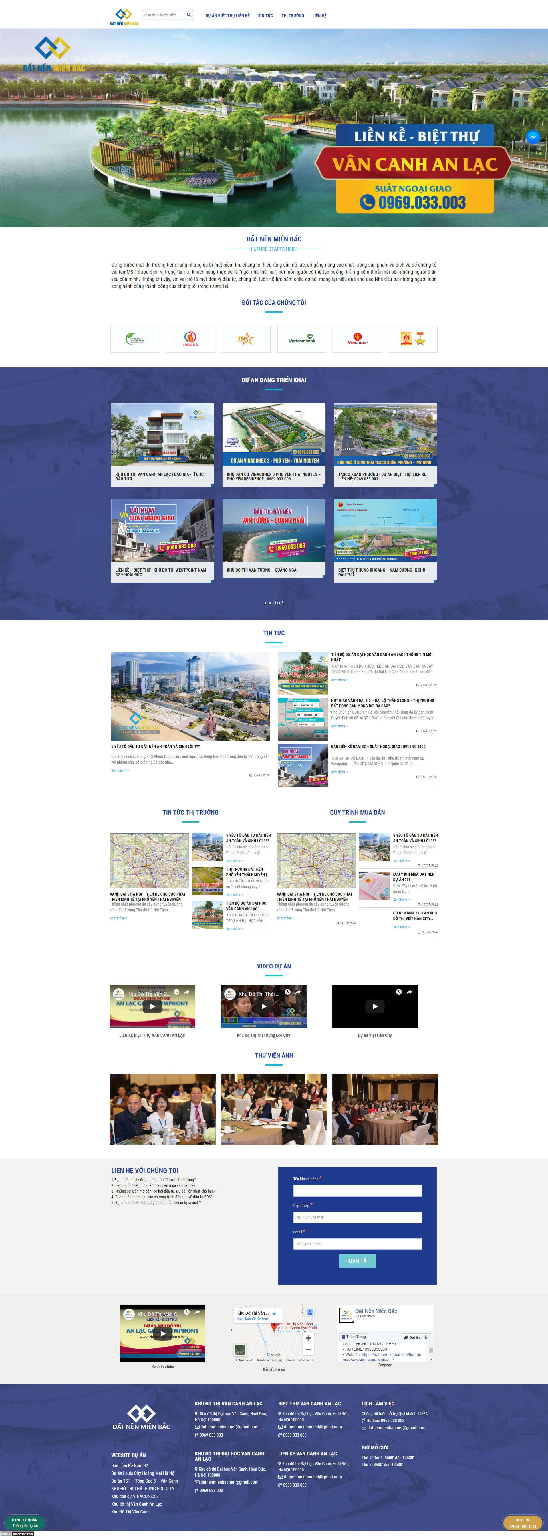 Mẫu website bất động sản cho nhiều dự án 4