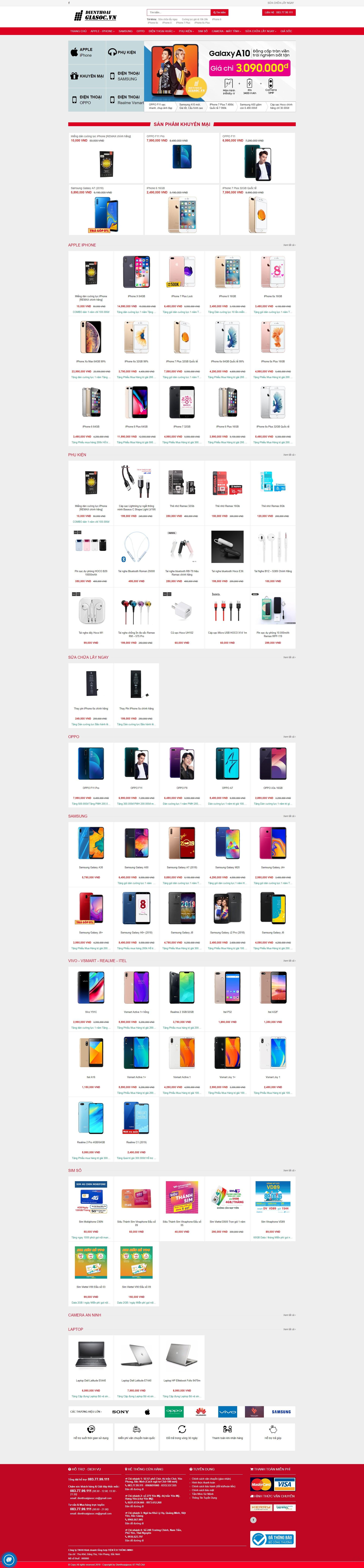 Mẫu website bán điện thoại 02