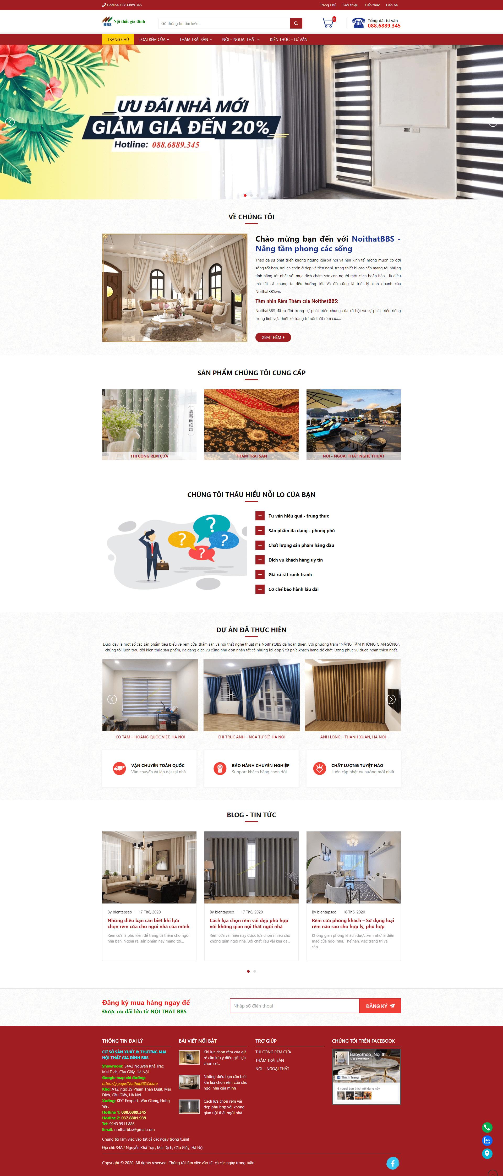 Mẫu thiết kế website nội thất BBS